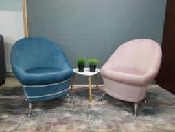 Жемчужина кресло-пуф - голубой