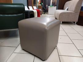 Банкетка Кубик (коричнево-серый)