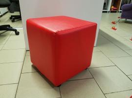 Кубик банкетка (красный)