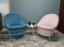 Жемчужина кресло-пуф (синий)